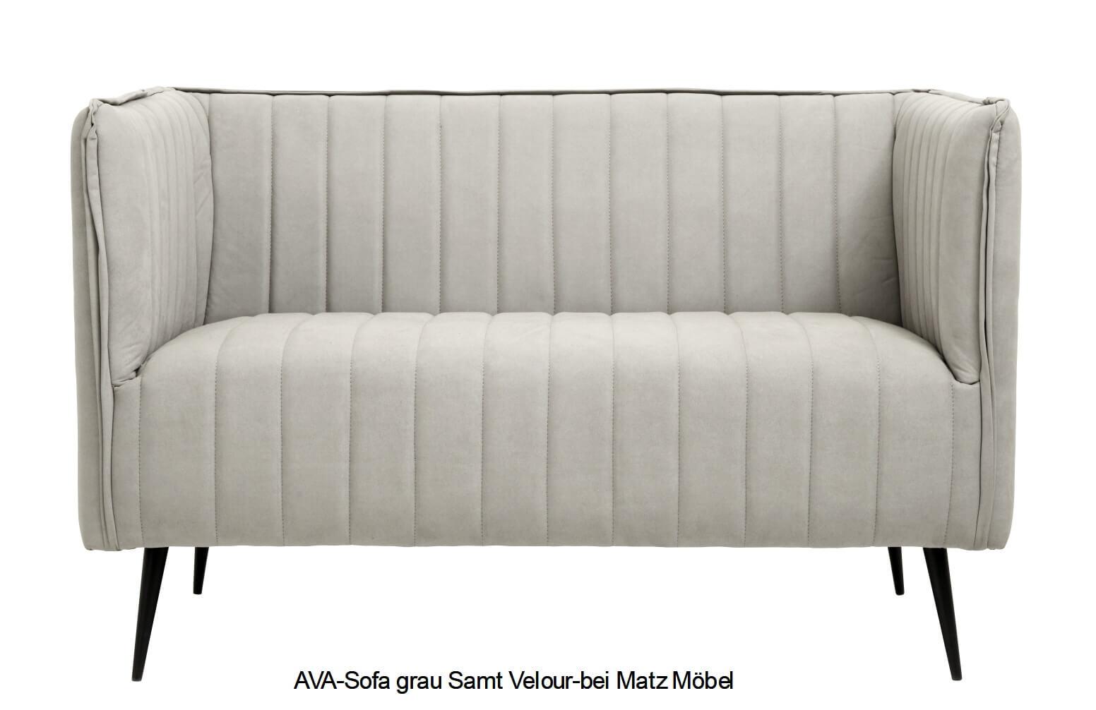 AVA-Sofa hellgrau