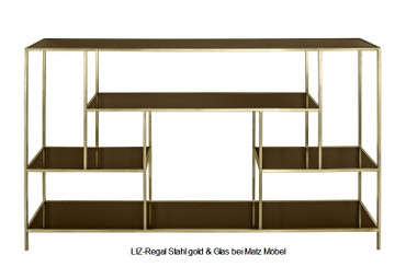 LIZ, Glas Metall Regal