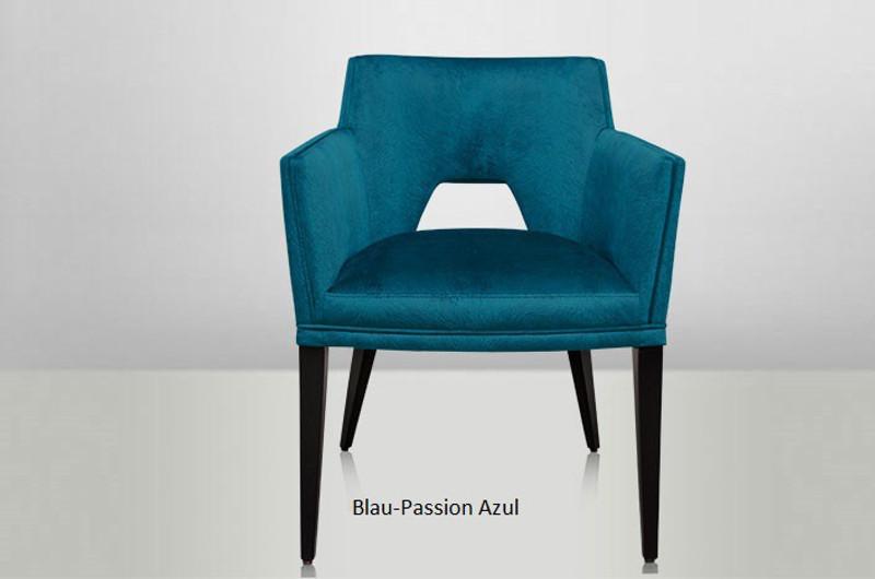 JESS, Stuhl Samt blaue Farben