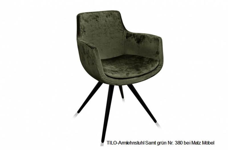 Tilo Armlehnstuhl Samt Grune Farben Matz Mobel Vintage Designermobel