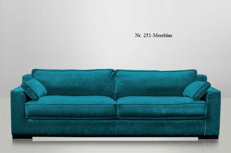 Samt sofa  JOSUA, modernes Sofa, Samt 4 Sitzer Polstermöbel Sofa