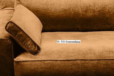 JOSUA, modernes Sofa, Samt 4 Sitzer