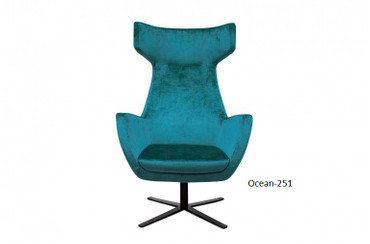 JOSUA, Egg Chair Ohrensessel, Samt