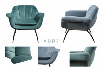 ABBY, Samt Sessel, Designer Sessel