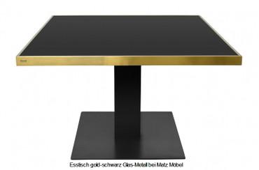 AIDA, Esstisch gold-schwarz Glas-Metall