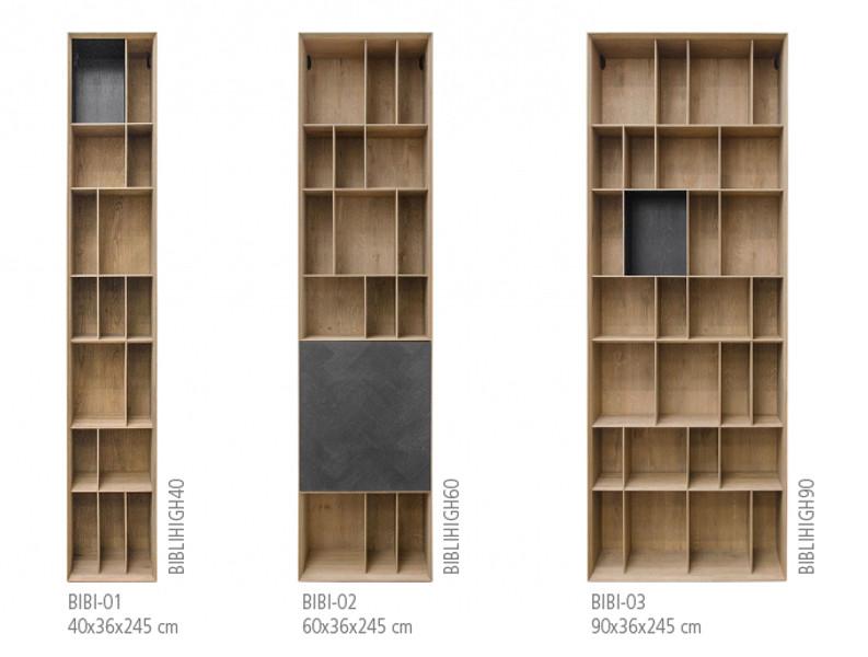 BIBI, Designer Parkett Regal Höhe 245 cm