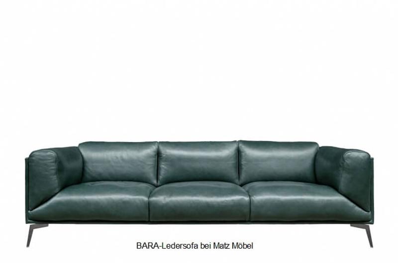 Bevorzugt BARA-Ledersofa grün, braun, schwarz | Matz Möbel - Vintage QQ29