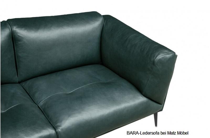 Turbo BARA-Ledersofa grün, braun, schwarz | Matz Möbel - Vintage ET51