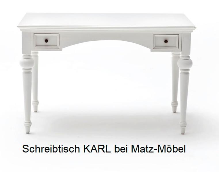 Schreibtisch weiß landhaus  Landhaus Schreibtisch KARL