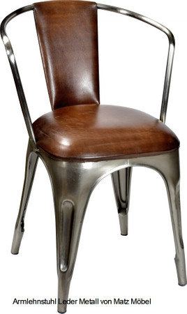 GETI-Stühle Metall-Leder 2 Stück