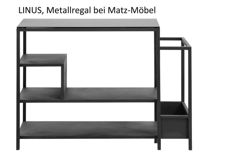 LINUS, Regal, Sideboard Glas-Metall Industriedesign