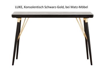 LUKE, Konsole Schwarz Gold