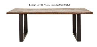 Esstisch LOTTE Altholz Eisen