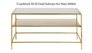 Couchtisch SUSI Gold Schwarz