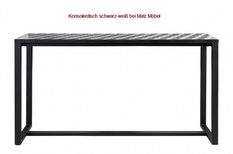 BLACK-Konsolentisch Industriedesign schwarz-weiß