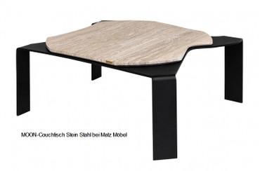 MOON-Couchtisch Stein Stahl
