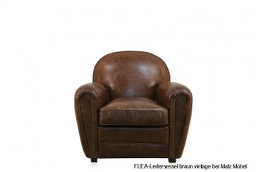 FLEA-Ledersessel braun