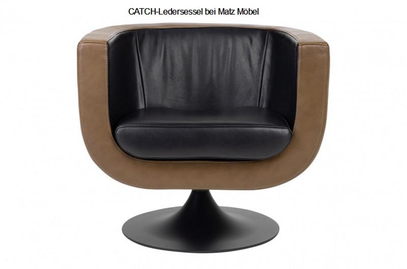 Catch Ledersessel Braun Schwarz Vintage Designer Möbel Von Matz