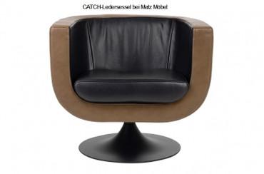 CATCH-Ledersessel braun schwarz