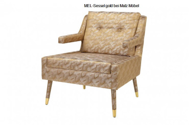 MEL-Loungesessel gold