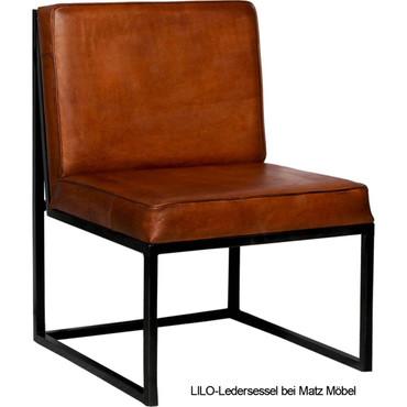 LILO-Ledersessel braun