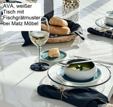 Tisch AVA Weiß Fischgrätmuster