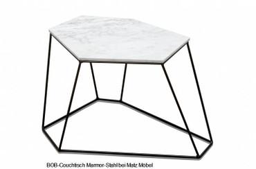 BOB-Couchtisch Marmor Stahl