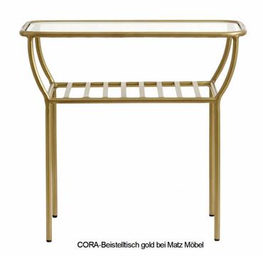 CORA-Beistelltisch gold oder schwarz