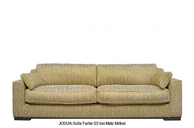 JOSUA-Designer Sofa Fischgrat Muster 4 Sitzer