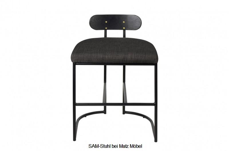 SAM-Designer Stuhl Stoff-Stahl