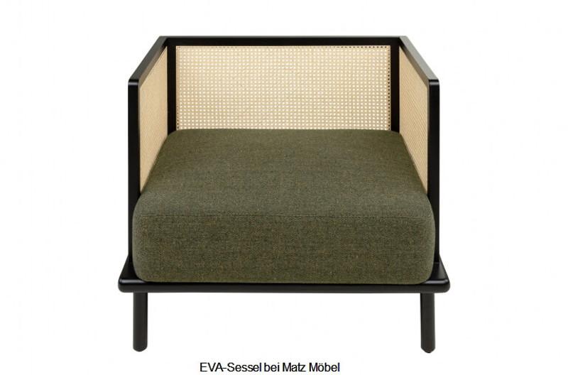 EVA-Designer Sessel Holz-Rattan-Wiener Geflecht