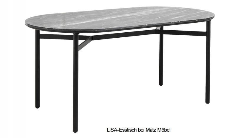LISA-Esstisch Marmor-Metall