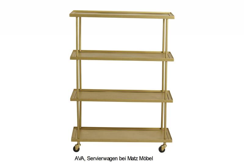 AVA, Servierwagen gold, 104 cm hoch