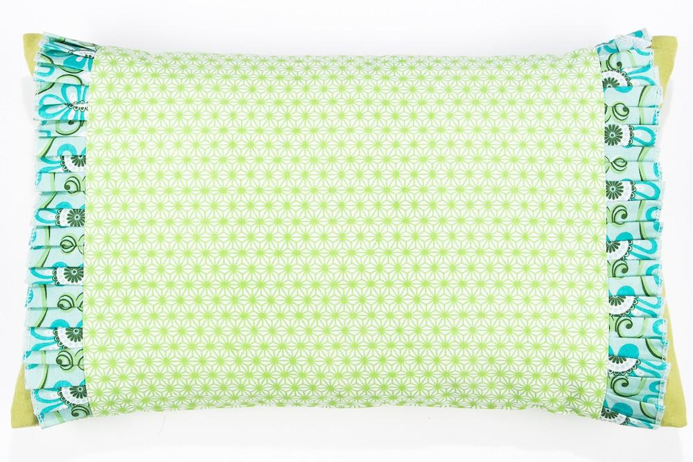 Kissenbezug in grün türkisem Mustermix 50 x 30 cm
