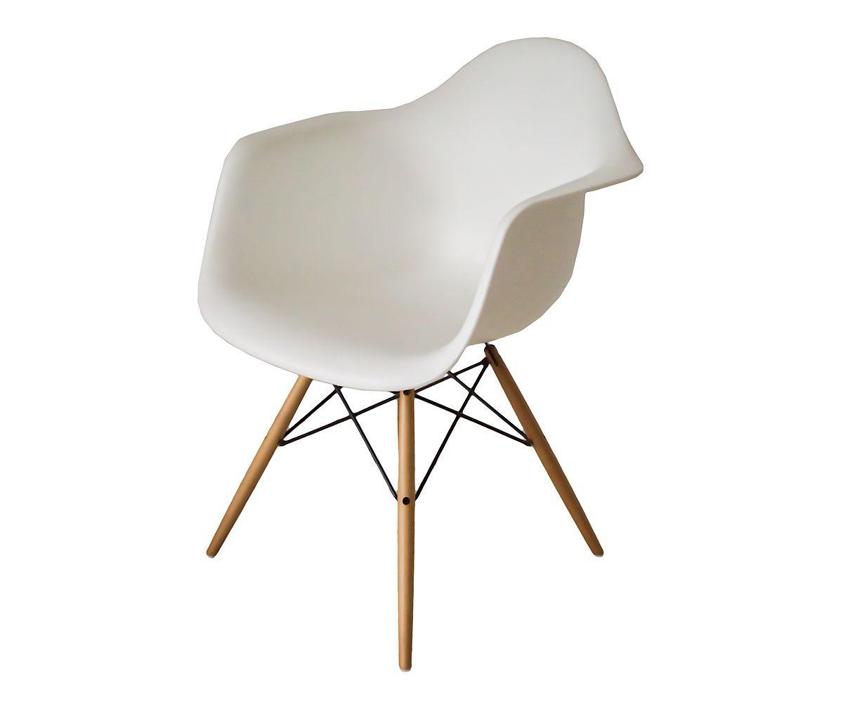 Unverwechselbarer Stuhl aus der Eames-Plastic-Armchair-Kollektion neue Höhe