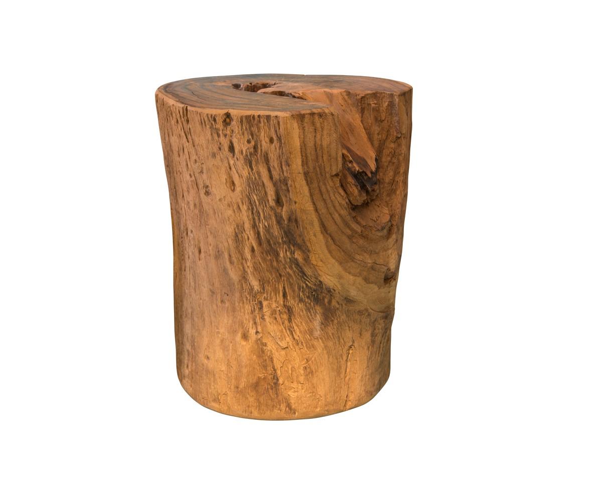 Massiver Holzblock aus naturbelassenem Teakholz
