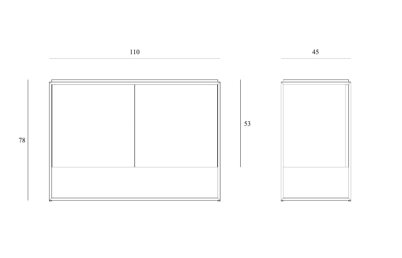 Monolit Sideboard All Black - Zweitürig 005
