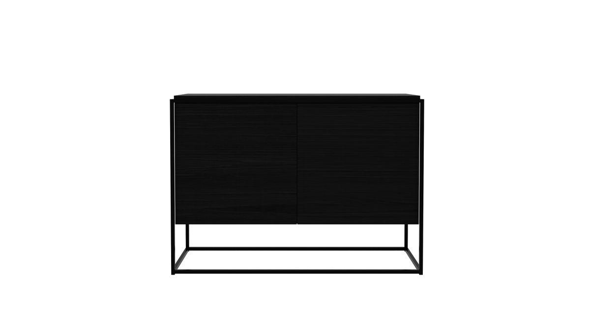 Monolit Sideboard All Black - Zweitürig 002