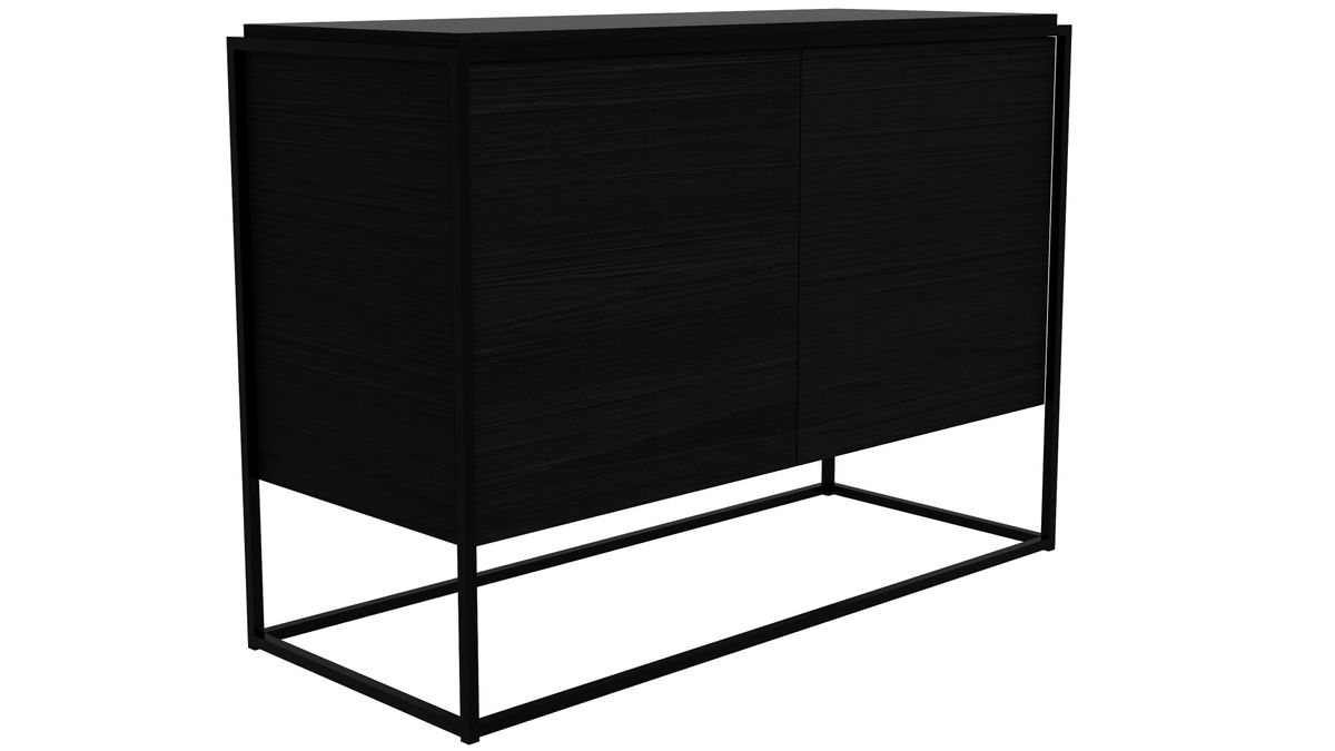 Monolit Sideboard All Black - Zweitürig