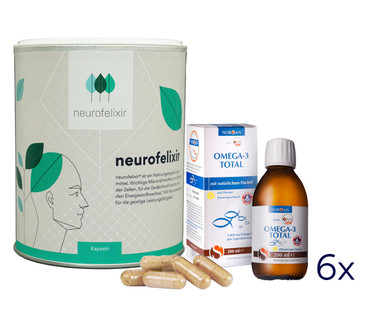 neurofelixir® capsules + Omega-3 Fish oil supply package – Bild 1