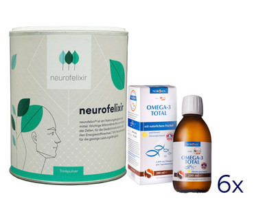 neurofelixir® powder + Omega-3 Fish oil supply package – Bild 1