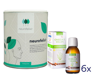 neurofelixir® powder + Omega-3 Vegan oil supply package – Bild 1