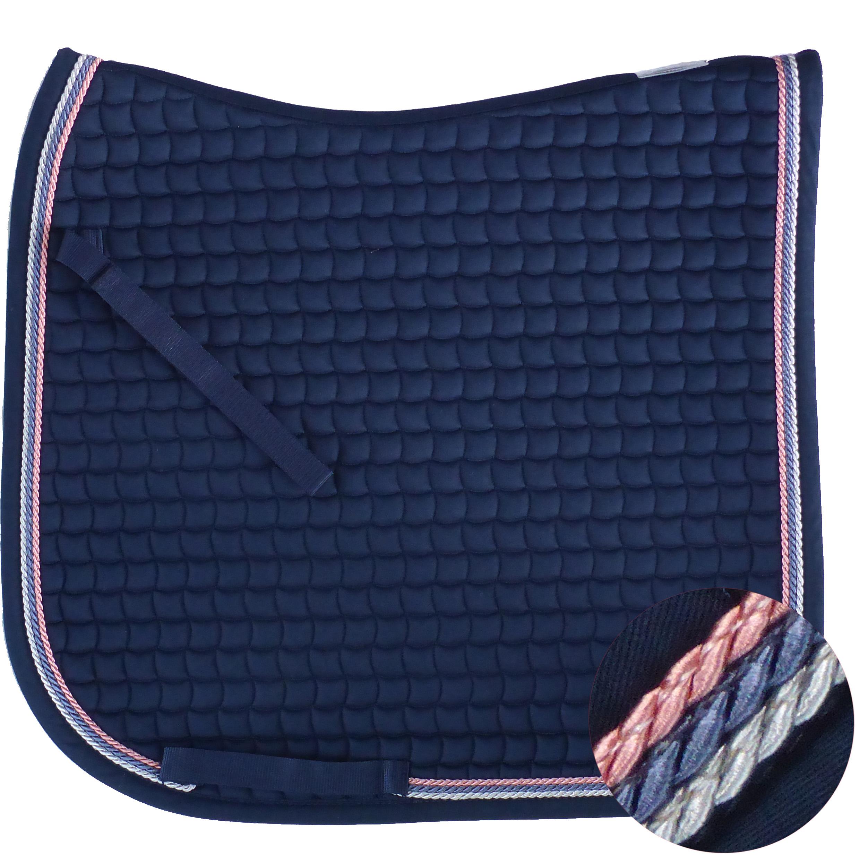 Neu ESKADRON Cotton Schabracke navy, 3fach Kordel silber,blue,rosa viele Größen