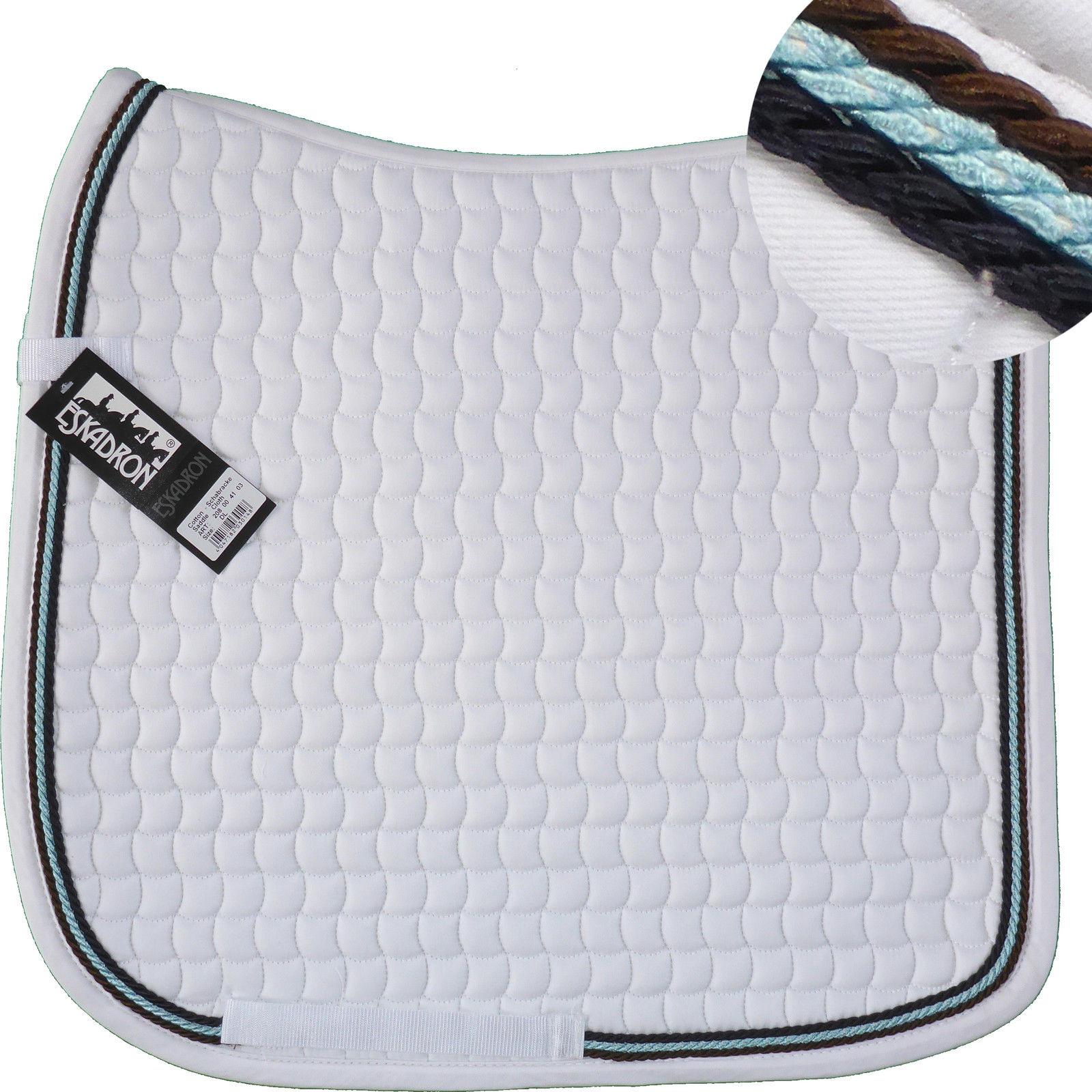 ESKADRON Cotton Schabracke weiß, 3fach Kordel schoko, iceblue, navy NEU
