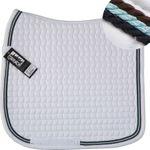 ESKADRON Cotton Schabracke weiß, 3fach Kordel schoko, iceblue, navy NEU 001