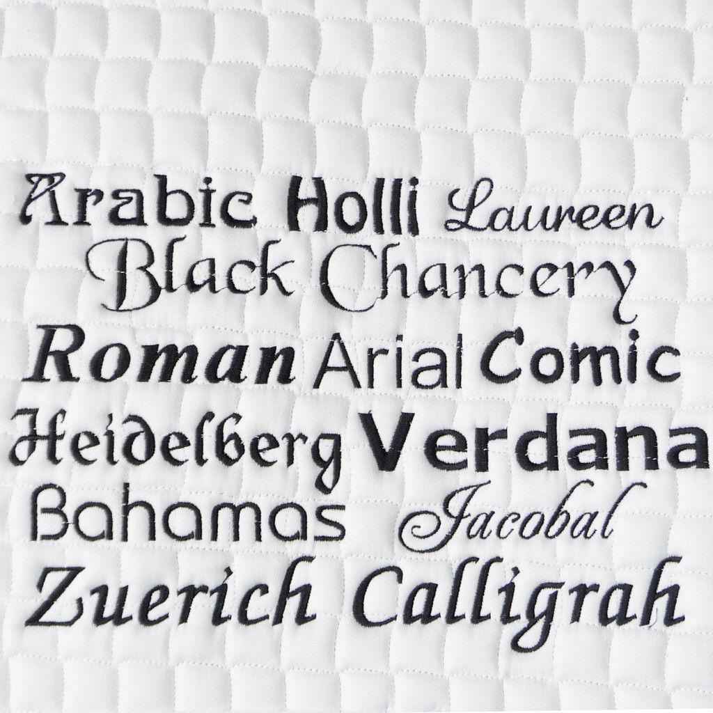 Bestickungs-Service Boxenvorhang bis zu 20 Buchstaben (Garnfarben-Angebot 1)