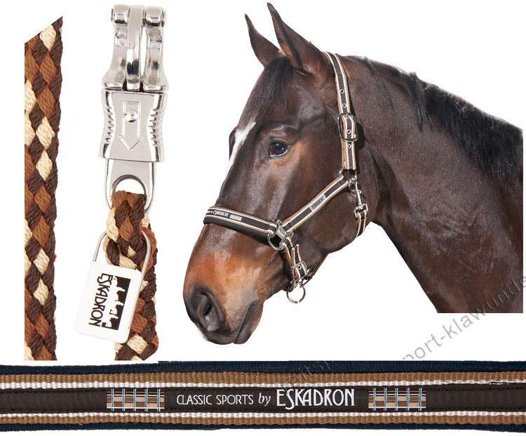 ESKADRON SET Halfter Dornschnalle & Strick choco/creme/nougat