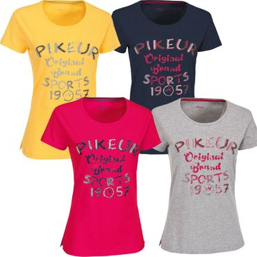 Pikeur T-Shirt LUISA in rape yellow, berry, grau melange & navy - NEU Sommer 16