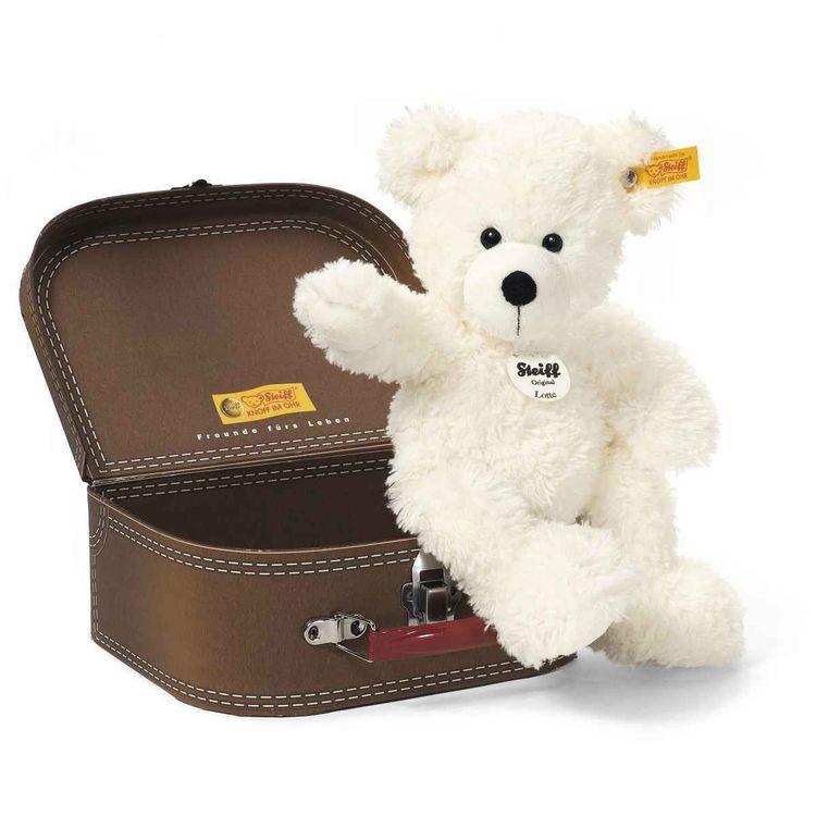 Steiff Teddybär weiße Lotte im Koffer (111464) Teddy, Kuschelbär, NEU