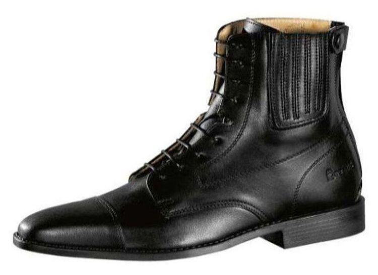 Cavallo Paddock Comfort Leder-Schnürr-Stiefelette schwarz